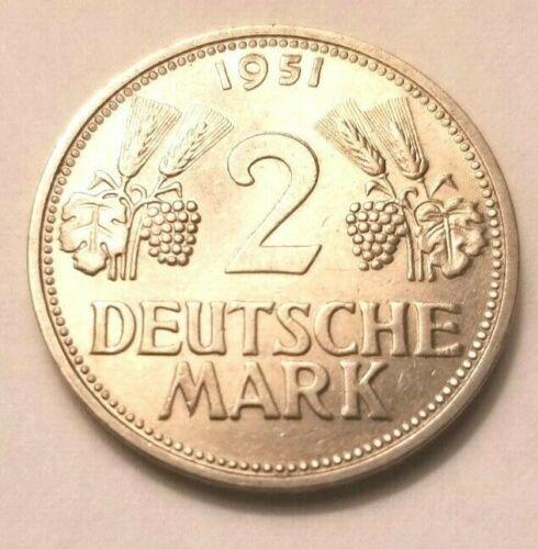 1951 G GERMANY 2 MARK