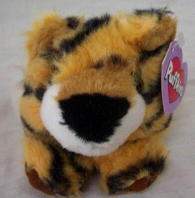"Puffkins TIPPER THE TIGER 4"" Plush STUFFED ANIMAL Toy NEW"