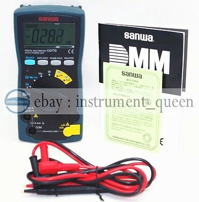 Digital Multimeters Standard Type 3-34 Digits Sanwa Cd770 4000 Count New
