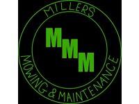Millers Mowing & Maintenance. All aspects of garden maintenance undertaken.