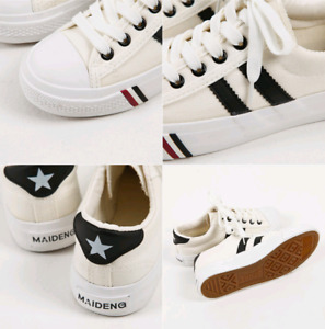 Woman  Classic  Casual Laced Up Canvas Sneakers