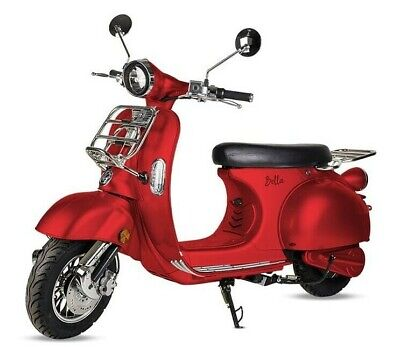 Moto scooter electrica matriculable Vespa 3000w bateria matricula 50 Km rojo