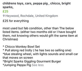 Children's pre school toys