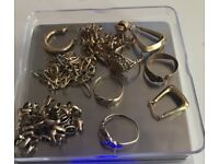 9ct gold jewellery- scrap 28g