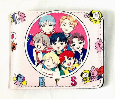 K-pop BTS Wallet Anime Halloween Cosplay Korea Music Band BTWL2238