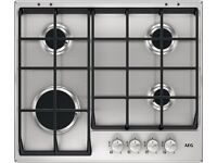 New Boxed AEG Gas Hob HG654351SM 60cm 4 Burner Stainless Steel Was: £299.99