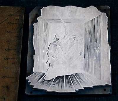 DIE RÄUBER Galvano Druckplatte Klischee Eichenberg printing plate copper