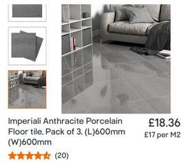 Anthracite Porcelain Floor Tiles x30