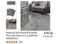 Anthracite Porcelain Floor Tiles x30