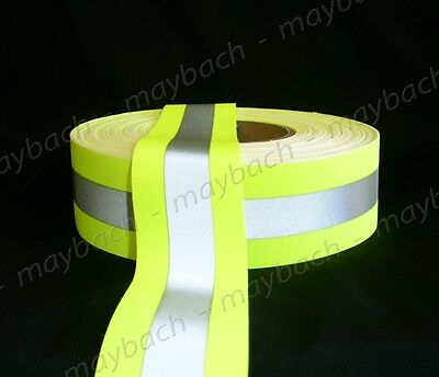 Reflective Tape 2 Sew-on Lime Yellow Fabric Trim Vest