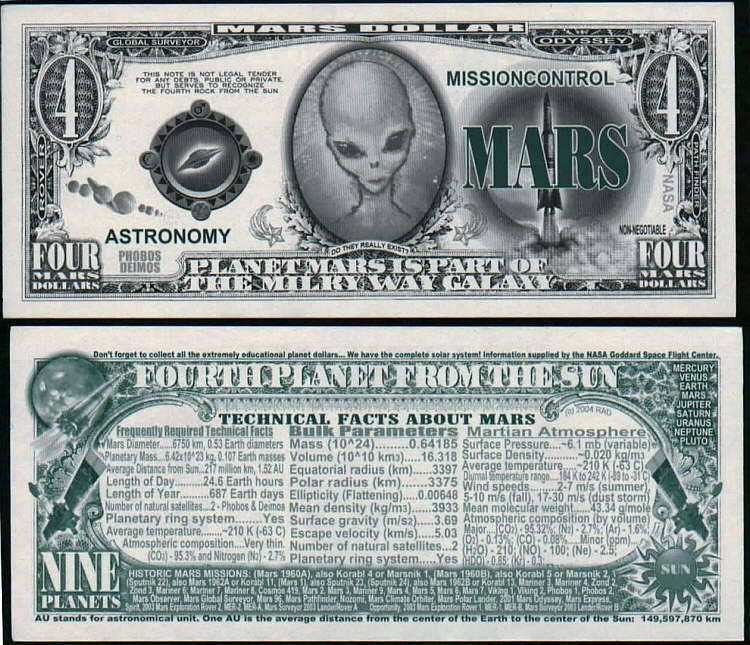 FREE SLEEVE Bass Guitar Million Dollar Bill Fake Play Funny Money Novelty Note