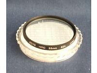 Hoya 55mm HMC 82A (Cool down) filter, excellent condition.