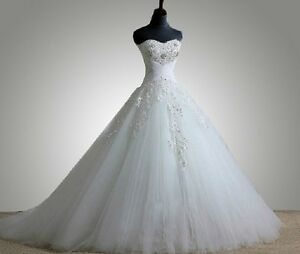 Noblest-Custom-white-ivory-wedding-dress-bride-gown-size-2-4-6-8-10-12-14-16-28