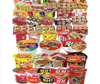 Random Selected Cup Ramen Box Instant Noodle Korean food K-Food Yummy Spicy 8pcs