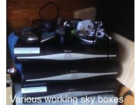 sky plus HD box with remote and cable