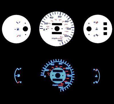 92-95 Honda Civic Dx Mt No Rpm Blue Indiglo Glow White Gauge