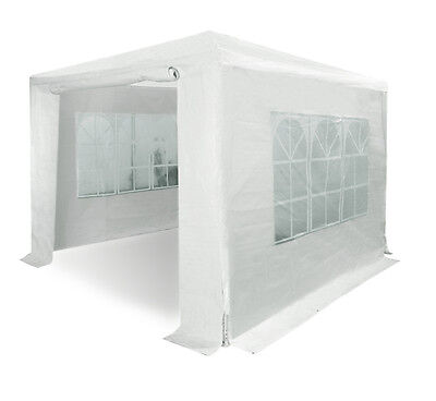 3m x 3m Party Tent Marquee Gazebo White Garden Canopy Shelter Walls Included
