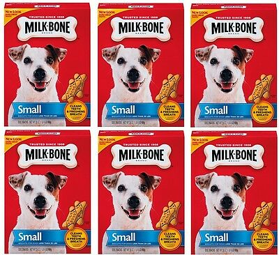 (6) boxes 7910090202 24oz Small MILK-BONE MILK BONE DOG BISCUIT TREATS SNACK