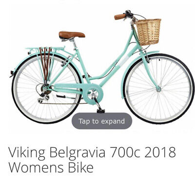 Viking Belgravia Bike Turquoise Small Barely Used...With Pet & Original Basket