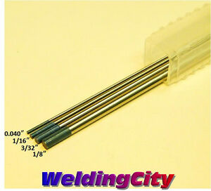 4 TIG Welding Assorted Size 2% Lanthanated Tungsten Electrodes 040-1/16-3/32-1/8