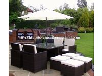RATTAN CUBE *** FREE DELIVERY *** patio furniture table and chairs for garden decking shed summer
