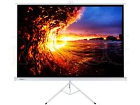 "100"" Portable Projector Screen with Tripod Stand"