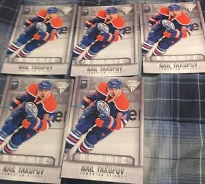 "5 3"" x 5"" Nail Yakupov Hockey Rookie Cards - Mint"