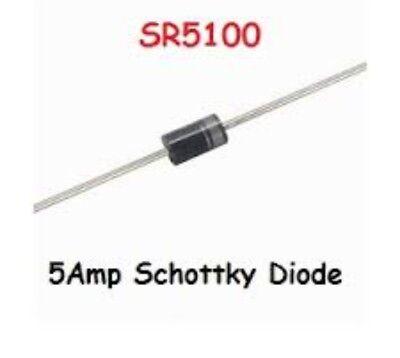 20pcs Schottky Rectifier Diode 5amp 100v Sr5100 Do-27 Usa Seller