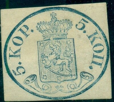 FINLAND #3 5kop with Large Pearls LH Nielsen certificate - exceptional stamp