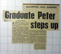 1970 Peter Suddaby Maths Graduate Swansea Snapped Up By Blackpool Football Club -  - ebay.co.uk