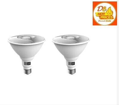 KODO 120-Watt  PAR38 LED Motion Sensor Flood Light Bulb Daylight (2-Pack)