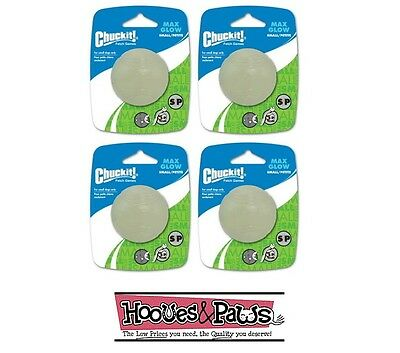 Chuckit Max Glow Ball Small 4pk Pack Dog Fetch Toy for in the (Small Max Pack)
