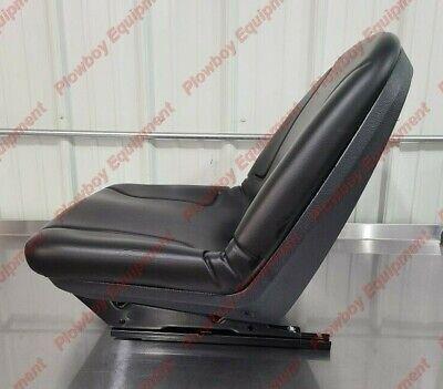 Seat At355008 For John Deere Skid Steer Loader 5575 6675 675b 7775 8875 Black