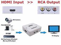 HDMI to 3 RCA AV Composite Full HD Video Converter Adapter 720p/1080p PAL/NTSC