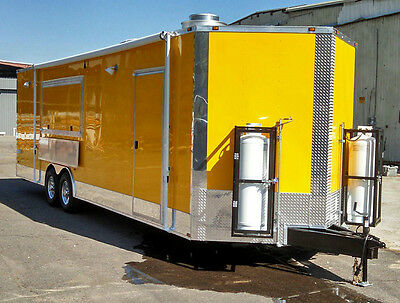 8.5x28 Food Trailer W Sinks Hood Gas And Fire Suppresion