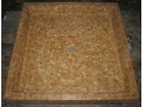 NEW TRAVERTINE MOSAIC SHOWER TRAY, NEW