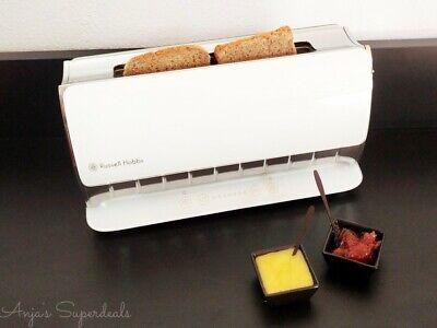 NEU & OVP Russell Hobbs Touch Designer Toaster weiß ***Glass Line Edition***