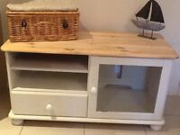 Pine, cream TV unit, cabinet, cupboard. DELIVERY AVAILABLE