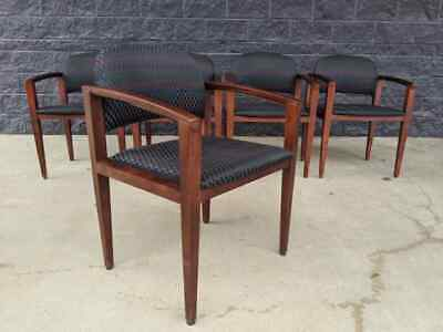5 Contemporary Haworth Myrtle-mueller Tally Solid Maple Guest Lobby Chairs