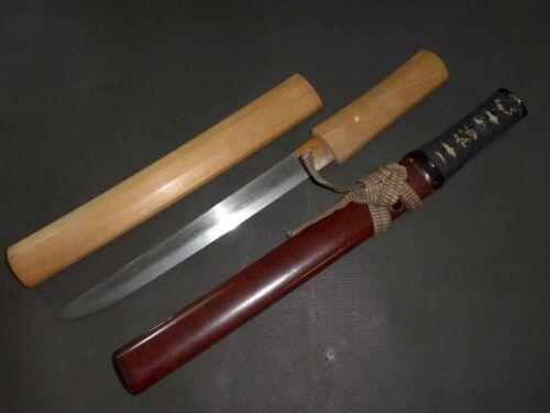 YOROI DOSHI TANTO (sword) w/White Sheath & Koshirae : MORIMITSU : MUROMACHI
