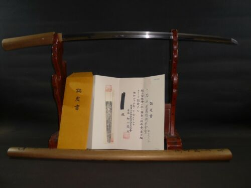 "KATANA (sword) w/NBTHK judgement paper : KANESHIGE : EDO : 35.2 × 24.8 ""  980g"