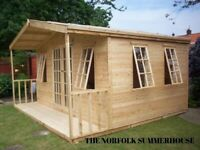 NEW TOP QUALITY T&G CLADDED SUMMERHOUSE ERECTED FOR FREE