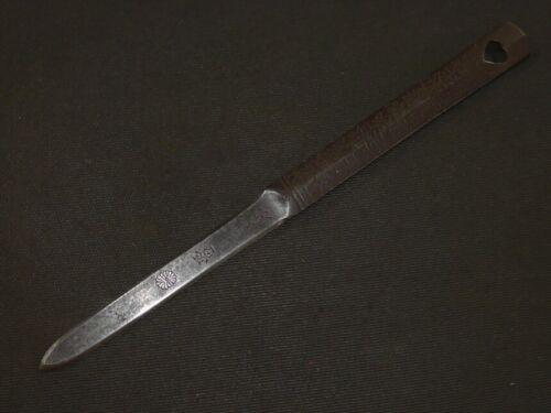 """BASHIN of KATANA (sword) : KIKUMON KAMINARIYOKE : EDO : 7.3 × 3.4 × 0.1 """" 30/70g"""