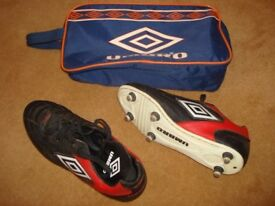Umbro Pulse Football Boots - Size UK 9 / EU 43 - with bag