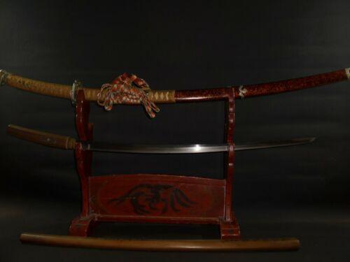KATANA (sword) w/Tachi Koshirae & White Sheath : KANESHIGE : MUROMACHI