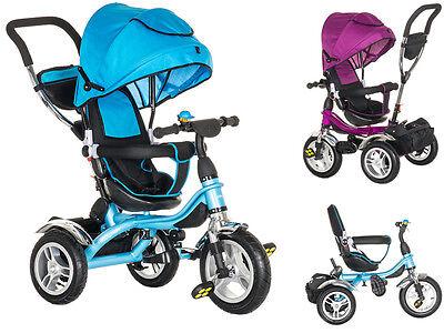 Dreirad 5 in 1 Kinder Fahrzeug Kinderwagen Fahrrad Schieb 1-5 Jahre Farbe Lila