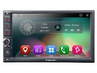 Android Double Din Car Stereo Head Panel With Dash Cam Bluetooth Wifi GPS Full Touchscreen