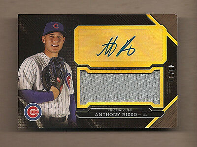 2016 TOPPS TRIPLE THREADS MATT RIZZO - JERSEY + AUTO - 49/99 - CUBS