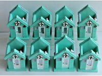 JOB LOT of 8 Coastal Seaside Beach Hut Design Pen / Toothbrush Holders Brand New