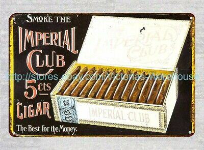 vintage signs for sale Imperial Club Cigar metal tin sign